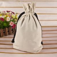 China Handled Reusable Cotton Shopping Bags Gift Jute Small Cotton Drawstring Bags on sale