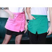 Wholesale Restaurant Custom Cooking Aprons With Pockets , Front Slit Cute Waitress Aprons from china suppliers