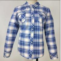 China Muti Color Ladies Fleece Jackets , Soft Ladies Cotton Check Shirt Skin Cared for sale