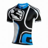 Wholesale Unisex Plain Cycling Jersey, Anti-bacterial, Anti-UV, Breathable Moisture-wicking Fabrics from china suppliers
