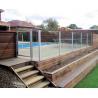 Buy cheap Toughened frameless tempered glass fence panels resist shock , burglary , burst from wholesalers