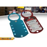 Wholesale Eight Hole Aluminum HASP Lockout , 180 Mm * 70 Mm 79g Safety Lockout Hasp from china suppliers