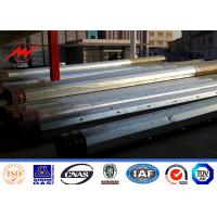 Wholesale Africa Transmission Line Galvanized Steel Power Pole With Cross Beams 10KV - 220KV from china suppliers