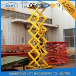 Wholesale Hydraulic Cargo Warehouse Elevator Lift , Upright Auto Scissor Lift Platform from china suppliers
