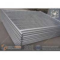 Buy cheap 42microns hot dipped galvanized Temporary Site Fence Panels, 2100mm high, 32mm O.D pipe, 60X150mm mesh aperture from wholesalers
