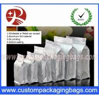Wholesale Flat Bottom Ziplock Aluminum Foil Bags For Coffee Bean / Heat Seal Foil Bags from china suppliers
