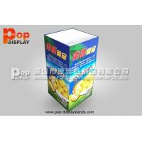 Buy cheap Glossy Lamination Square Cardboard Dump Bins With Customized Artwork And Size from wholesalers