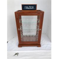 Wholesale Custom Wood Glass Spinning Rack Display Lockable Watch Display Case 4 Shelves from china suppliers