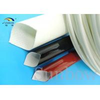 Quality 4mm Electrical Wire Silicone Fiberglass Sleeving , thermal insulation sleeve for sale