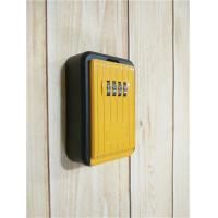 Wholesale Black / Yellow Wall Mounted Key Lock Box , 4 Digit Combination Lockbox from china suppliers