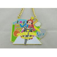 Wholesale 3.5mm Color Clown Logo Personalized Carnival Medal For Kids With Gold Chain from china suppliers