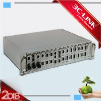 Wholesale 19inch chassis 16 Slots Rack DWDM MUX DEMUX Strong  Managed Media Converter System from china suppliers