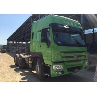 Wholesale Howo Tractor Trailer Truck LHD 10 Wheels HW 79 High Roof Cab Two Berths 102 km / h from china suppliers