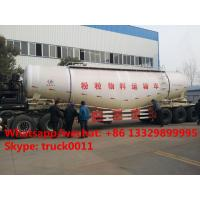 Wholesale 2017s new best price 3 axles 50cbm-90cbm powder material transport semitrailer for sale, bulk cement powder trailer from china suppliers