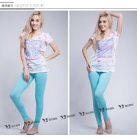Woman's Spandex Solid Color Knit Leggings
