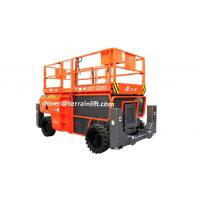 Wholesale Rough Terrain Diesel Scissor Lift 4 driving wheel from china suppliers