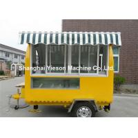 Wholesale CE Yellow Strong Street Food Van Hire With Sliding Glass Window from china suppliers