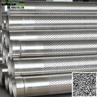 Wholesale Stainless Steel 316L Perforated Casing Pipe Slot Pipe for Well Drilling from china suppliers