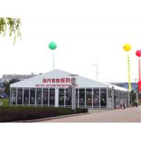Wholesale White Commercial Canopy Tent , Glass Wall Tent PVC Top Cover With Flexible Poles from china suppliers
