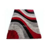 Wholesale 150D Silky Shaggy Carpet, Red Polyester Hand-tufted Patterned Area Rugs, Viscose Pile Rug from china suppliers