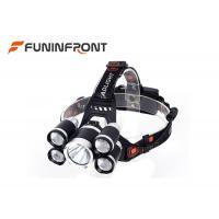 Wholesale 3000 LMs 5 LEDs Outdoor Cree Led Headlamp for Outdoor Emergency Camp Fishing from china suppliers