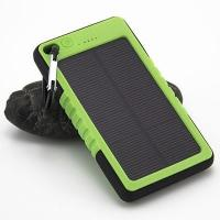 Wholesale PVC Customized Waterproof Outdoors Solar Power bank 6000mAH with Carabiner from china suppliers