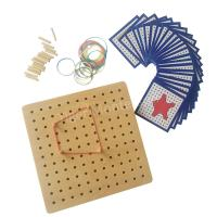 Wholesale Montessori Materials - Wooden Peg Board with Plastic Pegs from china suppliers