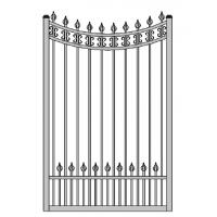 Wholesale 47 inch width garden gate Aluminum small gate singal swing gate from china suppliers