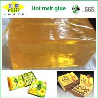 Wholesale EVA PSA Hot Melt Adhesive Block , High Soften Point Yellow Transparent Hot Melt Glue from china suppliers
