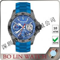 Wholesale Blue Dial Blue Strap Open Face Wrist Watch Fashion Design Sporting Case from china suppliers