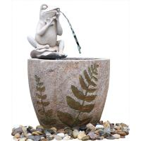 Wholesale Medium Nude Frog Resin Water Fountain / Resin Garden Water Features from china suppliers