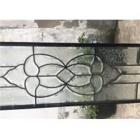 Quality Single Round Head Decorative Panel Glass For Entry Door Low E 3.2m Tempered for sale
