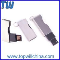 Wholesale Twist Shinning Metal Usb Thumbdrive Blade Type with Free Key Ring from china suppliers