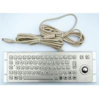 Buy cheap 20 Keys Industrial Metal Keyboard With 36mm Trackball As Cursor Device 20*146mm from wholesalers
