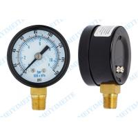 Wholesale 2 Inch Craftsman tire pressure gauge with black steel , brass Material from china suppliers