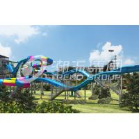 Wholesale Galvanized Carbon Steel Tube Fiberglass Water Slides for Amusement Waterpark in Gaint Park from china suppliers