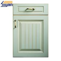 Quality Green Wood Texture Classic Cabinet Doors Custom Design Mdf Panel Material for sale