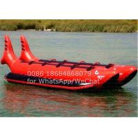 Wholesale Double Seats Red Shark PVC Inflatable Boat , Inflatable Banana Boat 10 Man Ride from china suppliers