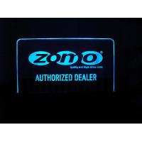 Wholesale 8mm 200pcs engraved acrylic colorful led illuminated sign board from china suppliers