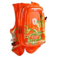 Wholesale Patent orange PVC inflatable bubble backpack  for wallet and mobile phone from china suppliers