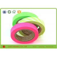Wholesale Bright Neon Rainbow Decorative Washi Paper Masking Tape 6 Colors Printing / CMYK from china suppliers
