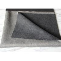 Wholesale Over Twill Double Faced Wool Coating Fabric 57 / 58 Width Light+Medium Gray from china suppliers