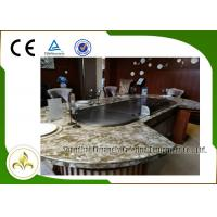 Wholesale 10 Seats LPG Heating Teppanyaki Japanese Grill Table Upper or Down Exhaustion from china suppliers
