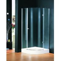 Wholesale Chrome Plate Hinged Shower Enclosures 800 X 800 , Curved Glass Shower Enclosures from china suppliers