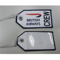 Wholesale Embroidery British Airways CREW Bag Tag from china suppliers
