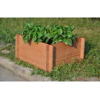 Wholesale Eco-Friendly Brown WPC Outdoor Furniture , Square Wood Plastic Composite Flower Pot from china suppliers