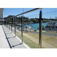 Wholesale Modern Stainless Steel Glass Balcony Railings , Clear Laminated Glass Railing from china suppliers