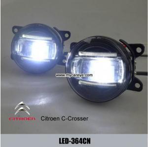 Wholesale Citroen C-crosser car front fog lamp LED lights kit daytime running DRL from china suppliers
