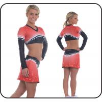 Wholesale Polyester / Spandex Cheerleading Sportswear High Breathblility from china suppliers