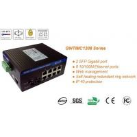 Buy cheap 2x1G SFP, self-healing ring network managed, industrial Ethernet switches, Web/SNMP manage from wholesalers